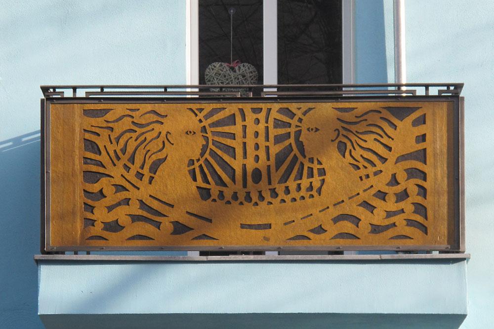 Lipke Metall Art Deco In Gold